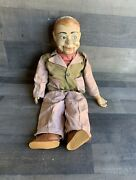 """Vintage Jerry Mahoney Ventriloquist Dummy Doll Composition Puppet Juro 23"""" Tall"""