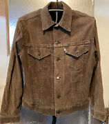 Vintage 70s Leviand039s Corduroy Trucker Jacket Brown Menand039s 42 Made In Usa