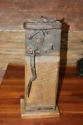 Antique 19th.c Conestoga Wagon Jack, Signed And Dated 1868 Working Condition Nice