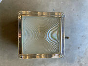 Progress Mfg. Co Antique Metal And Glass Recessed Light Underwriters Lab