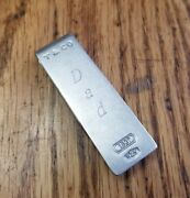 Vtg And Co 925 Sterling Silver 1837 Money Clip W/dad Monogram