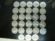 Lot Of 28 Canadian 5 Cent Coins 1946-1962. C5