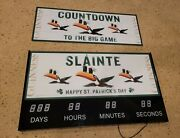 Guinness Beer Tucan Bird Led Light Up Countdown Clock Big Game/st.pattys