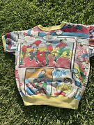 Vintage 1967 The Monkees Band Comic All Over Promo Sweatshirt Fits Xs - Small