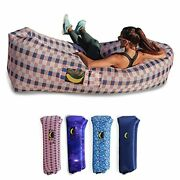 Glow-nana Inflatable Lounger, Blow Up And Light Up Air Chair And Couch Glow Usa