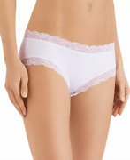 Hanro Womens White Cotton Lace Hipster Briefs 8554 Size Xs