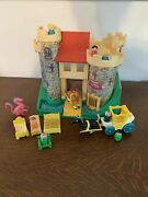 Vintage Fisher Price Little People Castle 993 - Dragon Horse Carriage People