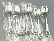 Sir Christopher - Wallace Sterling Silver Set Of 8 Ice Cream Spoon/fork 5 5/8