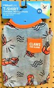 Vibrant Life Dog Puppy Claws For Alarm Ss Dog Puppy Lobster T-shirt Size Xs