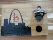 St Louis Wall Mounted Bottle Opener And Cap Catcher