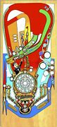 Funhouse Pinball Machine Playfield Overlay Uv Printed - Clear Inserts - Die Cut