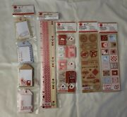 Martha Stewart Crafts Stickers Lot Of 5 Love Notes Mailbox Postage Stamp Borders
