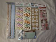 Martha Stewart Crafts Stickers Lot Of 6 Tags Ombre Bow Gingham Candy Cupcake
