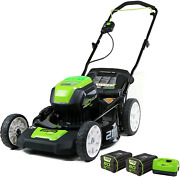 Greenworks Pro 80v 21 Inch Cordless Push Lawn Mower Includes Two 2ah Batteries