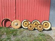 Vintage Dodge Artillery Wheels And Spare Tire Cover And Ring 17