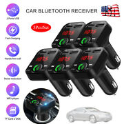 5x In Car Bluetooth Fm Transmitter Radio Mp3 Wireless Adapter Car Usb Charger Us
