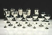 Antique Salem Silver Plate Wine Chalices, Champagne Sherbet And Cordials 20 Pcs