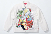 Xl Supreme Daniel Johnston Embroidered Work Jacket White Extra Large In Hand