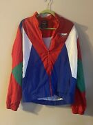 Pony Track Jacket Mens X Large Red Blue Long Sleeve Full Zip Forever 21