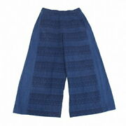 Issey Miyake Heart Haat Dyed Dobby Weave Wide Pants Indigo Secondhand