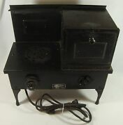 Old Vintage Metal Childand039s Toy Electric Range Stove And Oven Sears Roebuck And Co.