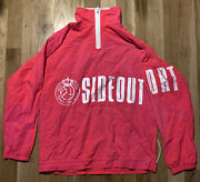Vintage Sideout Broght Pink Sport Volleyball Jacket 80and039s 90and039s Beach Windbreaker
