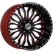 4-forged Xfx-305 24x14 6x135/6x5.5 -76mm Black/milled/red Wheels Rims 24 Inch