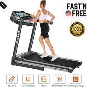 Folding Treadmill Running Machine For Exercise With Workout Program 3.25hp Motor