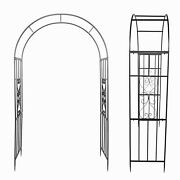 Garden Arch Wrought Iron Plant Climbing Frame Rack For Roses Vines Gardening Acc