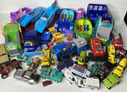 Big Toy Car Junk Drawer Lot - 38 Pieces Assorted Cars Trucks And More
