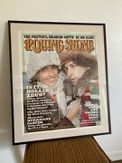 Framed Rolling Stone Magazine Cover Poster 1976, Issue 204, Bob Dylan