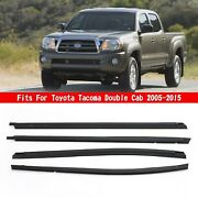 Car Outside Window Weatherstrip Seal Belt Moulding For Tacoma Double Cab 05-15 N