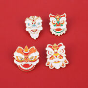 Vintage Chinese Style Lion Head Brooch Cartoon Dance Fashion Backpack Badge Gift