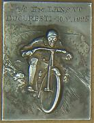 Harley Davidson Motorcycle Silver Medal 1925 National Record Romania Bucharest
