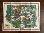 Vintage Six Flags Astroworld Map 1971