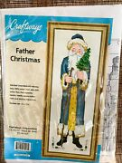 Father Christmas Counted Cross Stitch Kit Vintage Santa Craftways New