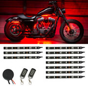 Ledglow 10pc Red Led Flexible Motorcycle Engine Accent Glow Lighting Kit