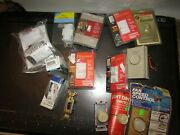 Lot Of Building Supplies - 13 Switches + Lights, Antique Brass Lamp Holders