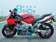 Red Injection Fairing + Tank Cover Fit Honda Cbr600f4i 05 06 2004-2007 33 A1