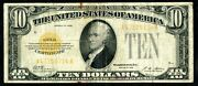 1928 United States 10 Ten Dollar Gold Certificate In Hard Flip Cover With Coa