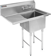 Stainless Steel Kitchen Sink With Faucet - Durasteel 1 Compartment Commercial Ut