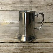 Greene King Abbot Ale Stainless Steel Tankard Brewery Bar Man Cave Used