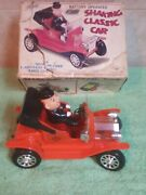Nomura T.n. Tin Toys Shaking Classic Car With Box Battery Operated Made In Japan