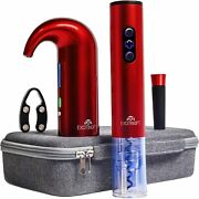 Wine Gift Set With Electric Wine Bottle Opener Aerator And Pourer