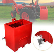 3 Point Ballast Box Mounted 1 Category Tractor Loader Counterweight Attachment
