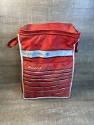 Vintage Snap On Insulated Soft Cooler Lunchbox Tool Box Red White Grey C200