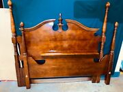 Antique Cherry Full Size Poster Bed. Height Of Poster Is 59