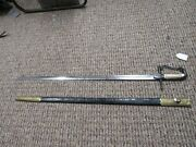 Pre-civil War United States Army Militia Officers Sword In Leather Scabbard
