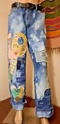 Upcycled Boyfriend Jeans Love Bleached Leviand039s 560 34x34 ☮ By Bird ☮