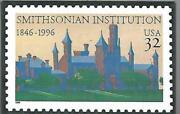 Smithsonian Institution 1846-1996 Usa 32 Cents Stamp Souvenir Collectible Magnet